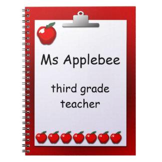 Teacher Apples Custom Note Book