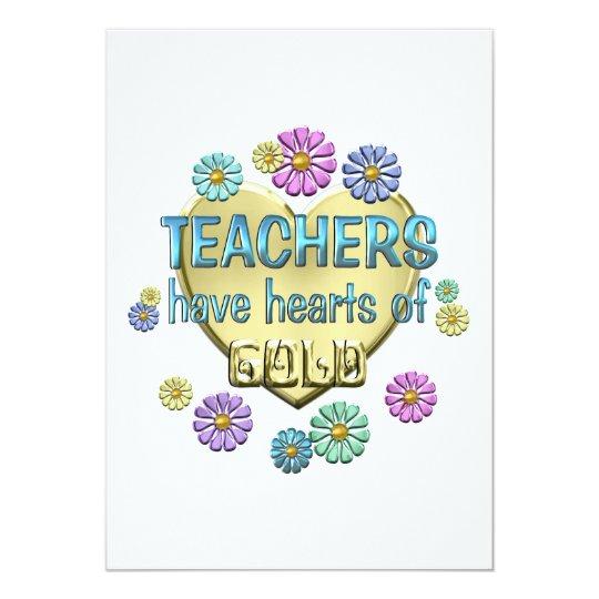 Teacher Appreciation 13 Cm X 18 Cm Invitation Card
