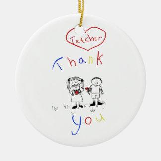Teacher appreciation christmas ornament