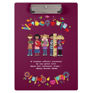 Teacher Appreciation Customizable Gift Clipboards