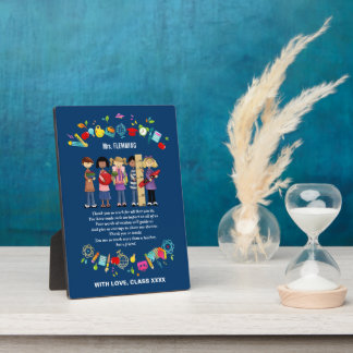Teacher Appreciation Customizable Gift Plaque