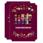 Teacher Appreciation Day. Customisable Cards 13 Cm X 18 Cm Invitation Card