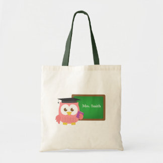 Teacher Appreciation Day, Cute Pink Owl Bags