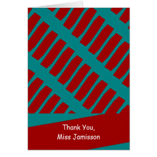Teacher Appreciation Day Greeting Card, Turquoise Greeting Card
