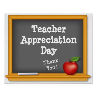 Teacher Appreciation Day, Thank You! Poster