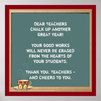 teacher appreciation decoration poster