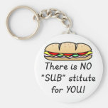 Teacher Appreciation Gift -Funny Sub Teacher Quote Basic Round Button Key Ring