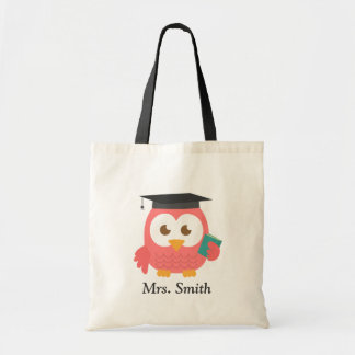 Teacher Appreciation, Thank You Pink Owl Tote Bag