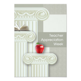 "Teacher Appreciation Week. Customizable Cards 5"" X 7"" Invitation Card"