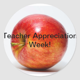 teacher appreciation week round sticker