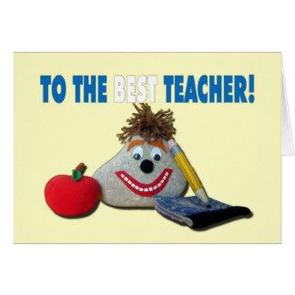 Teacher Appreciation - You ROCK! Card