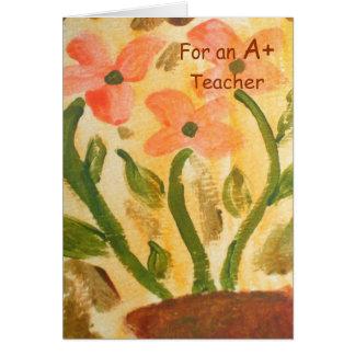 Teacher AppreciationThank You Card