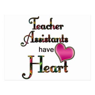 Teacher Assistants Have Heart Postcard