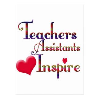 Teacher Assistants Inspire Postcard