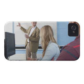 Teacher at whiteboard explaining lesson to Case-Mate iPhone 4 cases