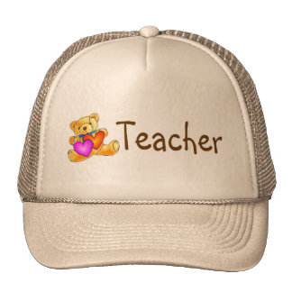 Teacher Bear Mesh Hat