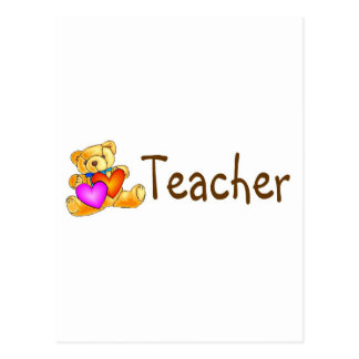Teacher Bear Postcard