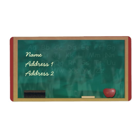 Teacher Blackboard Avery Label