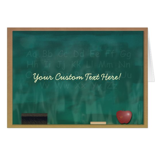 Teacher Blackboard Custom Card