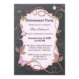 Teacher Blackboard Retirement Party Invitation