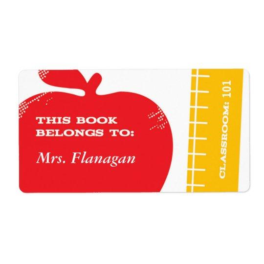 Teacher Book Label
