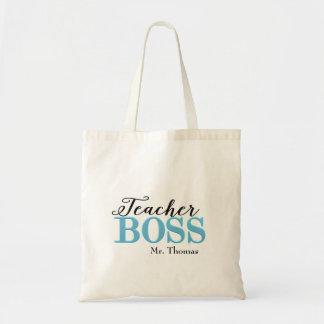Teacher Boss Tote Bag (Blue)