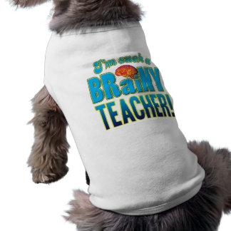 Teacher Brainy Brain Doggie T Shirt