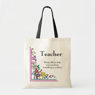 Teacher Budget Tote Bag