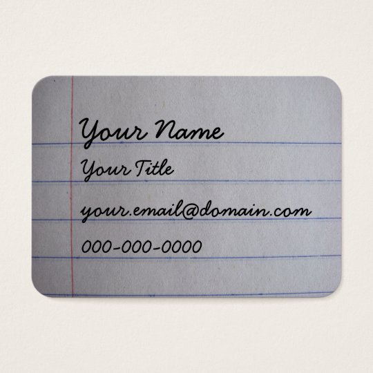 Teacher Business Cards