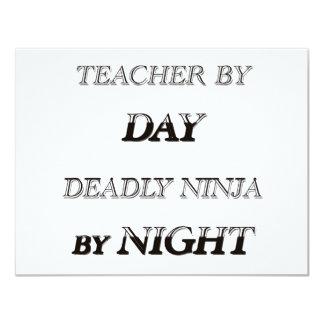 TEACHER BY DAY 11 CM X 14 CM INVITATION CARD