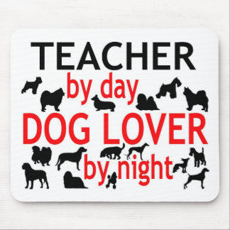 Teacher by Day Dog Lover by Night Mouse Mat