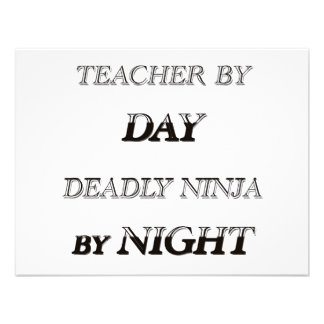 TEACHER BY DAY PERSONALIZED INVITATION
