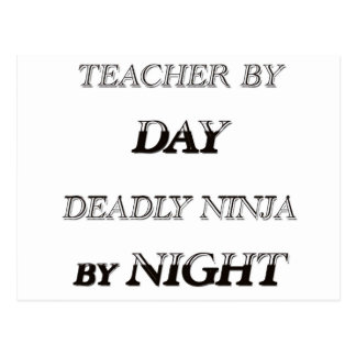 TEACHER BY DAY POSTCARD