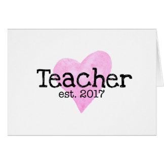 Teacher Card, New Teacher Card