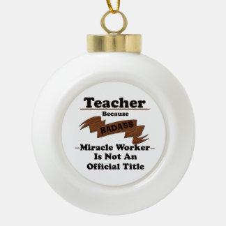 Teacher Ceramic Ball Christmas Ornament