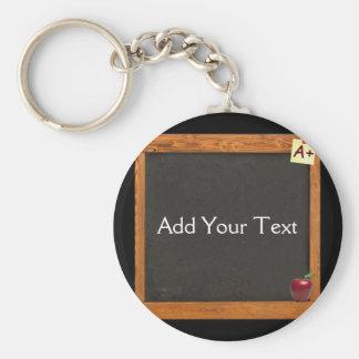 Teacher Chalkboard Basic Round Button Key Ring