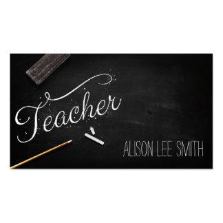 Teacher chalkboard pack of standard business cards