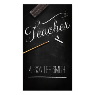 Teacher chalkboard business cards