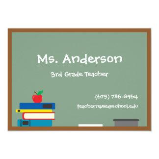 Teacher Chalkboard Large Business Cards 13 Cm X 18 Cm Invitation Card