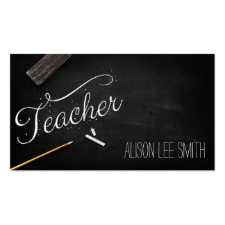Teacher chalkboard pack of standard business cards