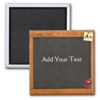 Teacher Chalkboard Square Magnet