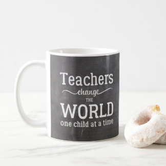 Teacher chalkboard white typography quote coffee mug