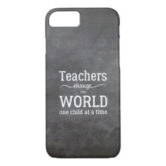Teacher chalkboard white typography quote iPhone 8/7 case