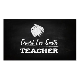Teacher chalkboard with Apple Pack Of Standard Business Cards