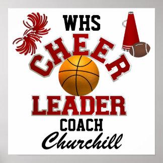 Teacher Cheerleading Coach Sign - Door Poster - SR