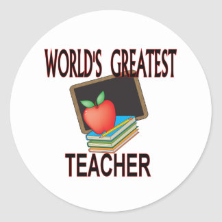 Teacher Christmas Gifts Classic Round Sticker