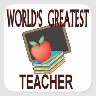 Teacher Christmas Gifts Square Sticker