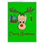 Teacher Christmas Reindeer--Adorable Gifts Greeting Card