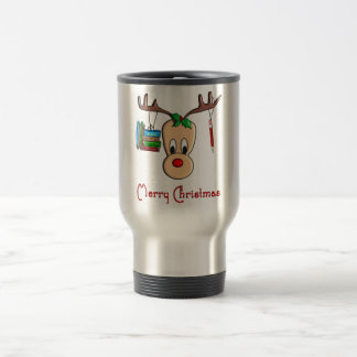 Teacher Christmas Reindeer--Adorable Gifts Travel Mug