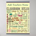 Teacher Class Room Rule Add Name Poster